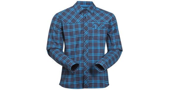 Bergans M's Granvin Shirt Navy/Sea Blue Check